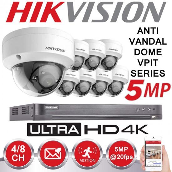 7208HUHI-K1 8CH 5MPIXEL PLUS 8 CAMS DS-2CE56H1T-ITM 5MPIXEL PLUS HD 2 TERRA CCTV KIT 54 5MPIXEL