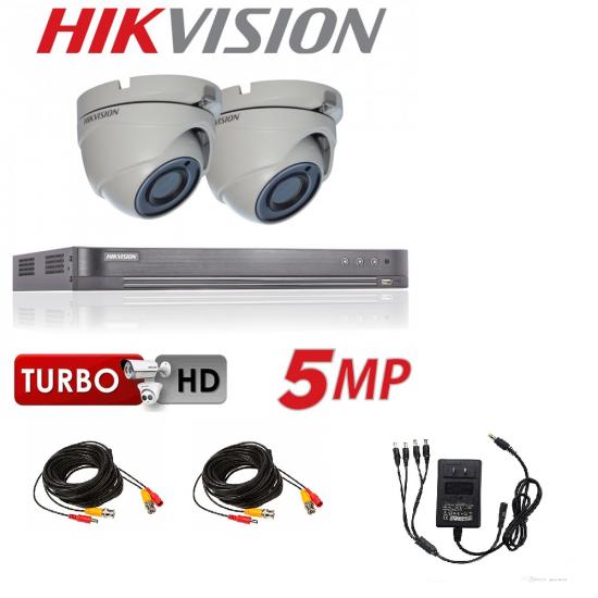 4 CH HIKVISION 5MP  4K TURBO HDMI 2X CAMERA  CCTV KIT 5201