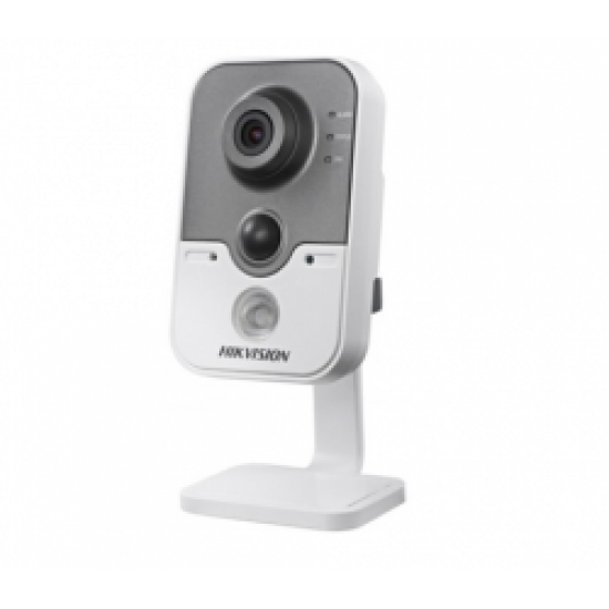 HIKVISION DS-2CD2410F-IW, Δικτυακή πλαστική κάμερα 1MP τύπου Cube σταθερού φακού, λευκό χρώμα