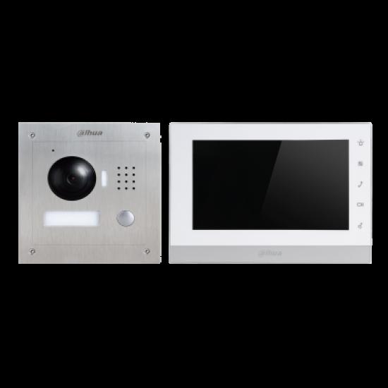 VTK-VTO2000A-VTH1550CH 7 Inch IP Kit με αντιβανδαλιστική κάμερα.