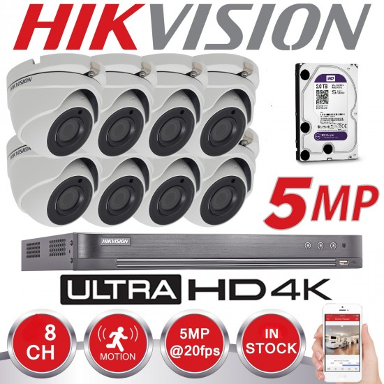 DS-7208HUHI-K2 PLUS 8CAMS 5 MPIXEL 80M IRLED ολοκληρωμένο συστημα CCTV KIT 5808