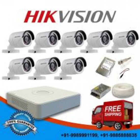 2 MPIXEL CCTV KIT 283 HIKVISION 7108HQHI-K1 8 DOME CAMS HIKVISION 56DOT-IRMF oλοκληρωμένο σύστημα