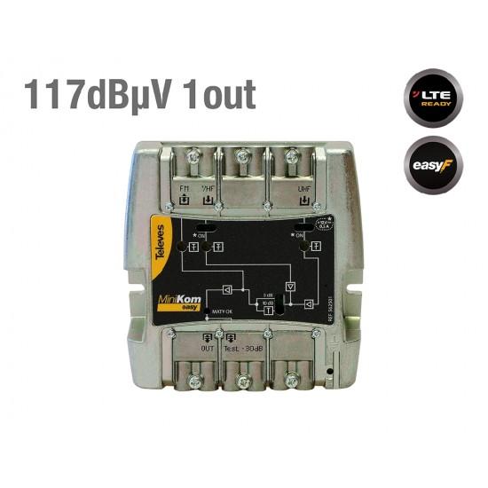 TELEVES 652501 κεντρικός ενισχυτής 117 db