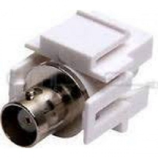 KUWES BNC Coax Connector Coupler Female to Female for Keystone Faceplates White