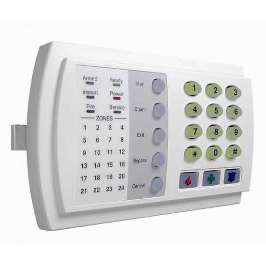 Caddx NX-124-GR 24 Πληκτρολόγιο 24 ζωνών με LED και φωτιζόμενα πλήκτρα