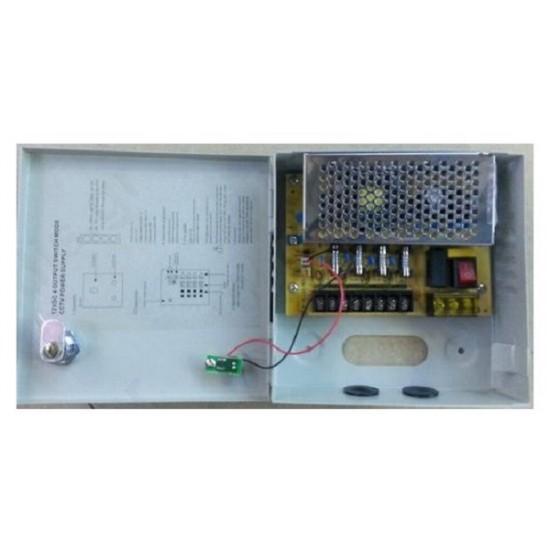 ANGA CP1209-5A-4,Σταθεροποιημένο τροφοδοτικό 12V / 5A / 60W, 4 εξόδων,