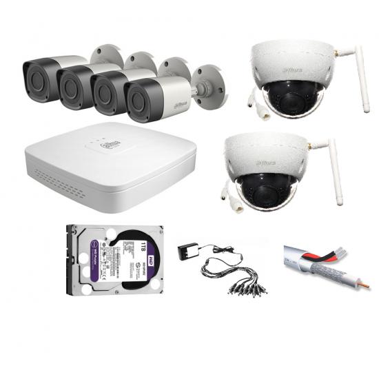 DAHUA XVR5104C-X1 CCTV KIT 6 καμερών hyb5