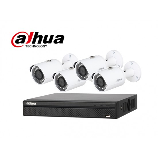 Dahua CCTV KIT 143  DAHUA XVR4104HS PLUS 4 camera HFW100SL